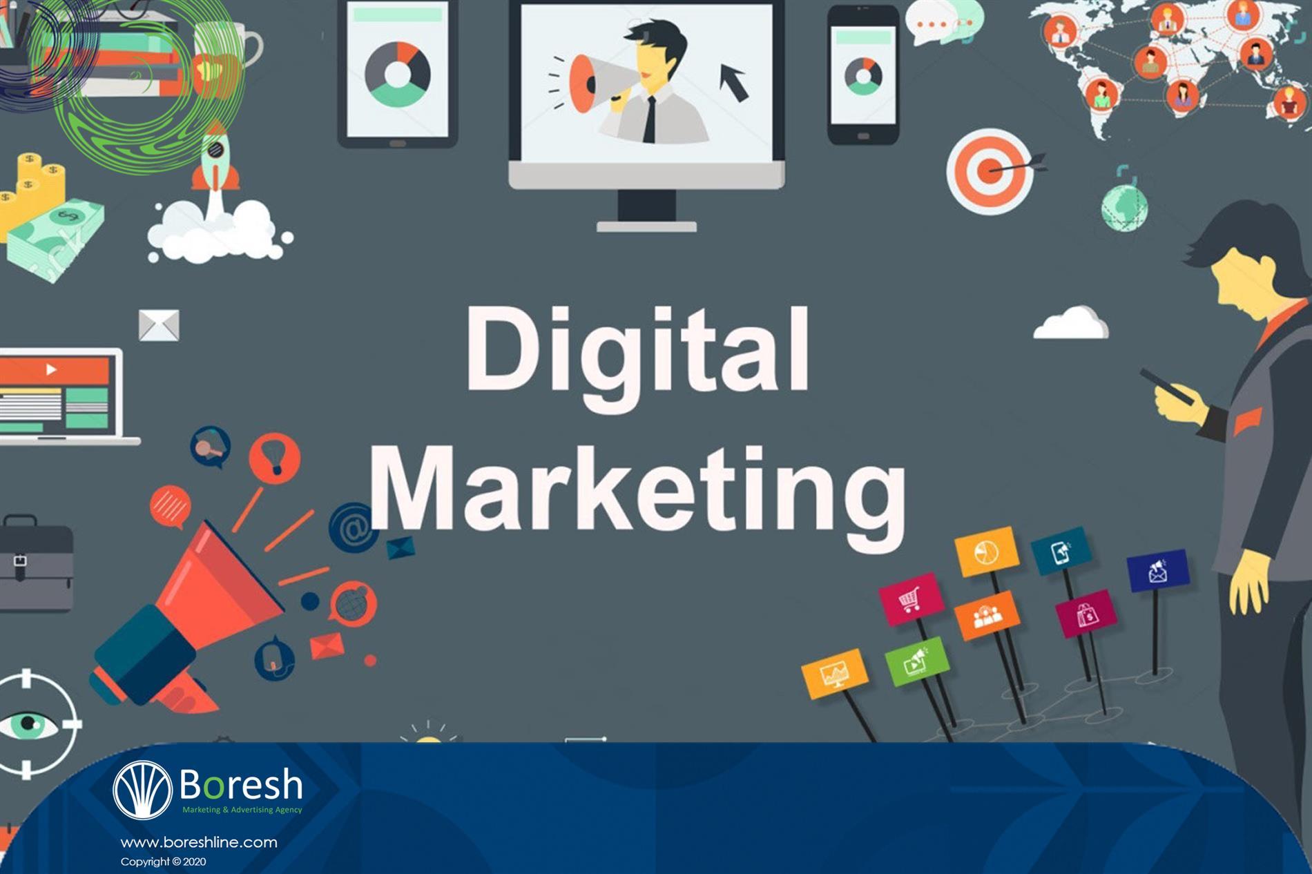 انواع  بازاریابی دیجیتال - گروه برندسازی، تبلیغات،بازاریابی و توسعه کسب و کار برش